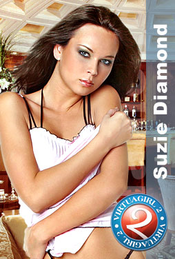Suzie Diamond strips on your desktop